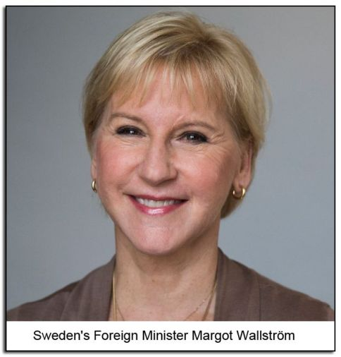 Sweden's Foreign Minister Margot Wallström